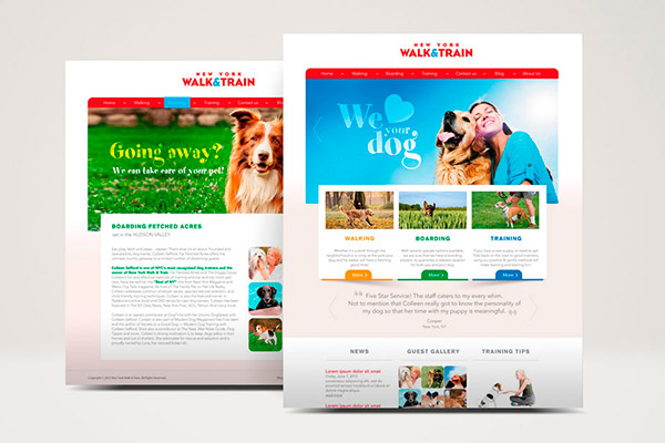 Diseño web - Walk & Train